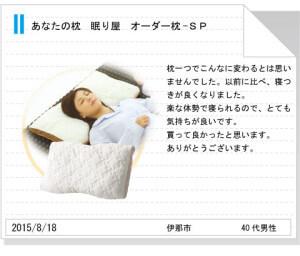 オーダーメイド枕tegami172