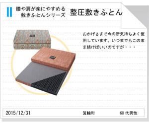 長野県箕輪町整圧敷きふとんtegami181