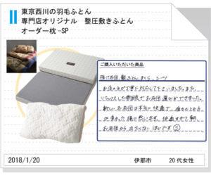 東京西川羽毛ふとん・オーダー枕・整圧敷きふとん